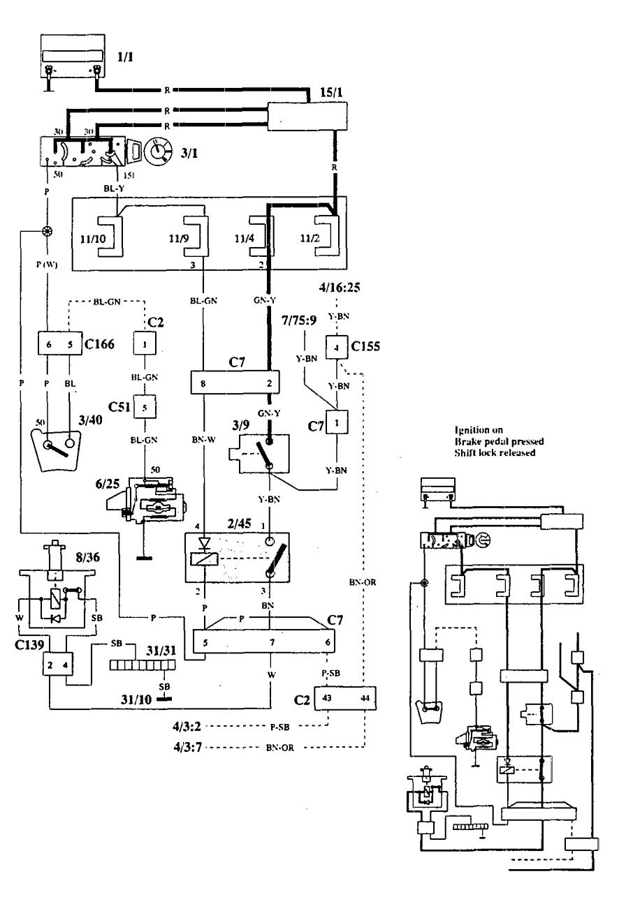 Volvo 940  1994  - Wiring Diagrams