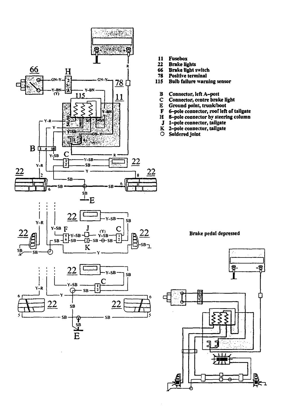 Volvo 240 Tailgate Wiring Diagram Complete Diagrams 1989 740 940 1991 Stop Lamp Carknowledge Rh Info 1992 Ac 1990 Alternator