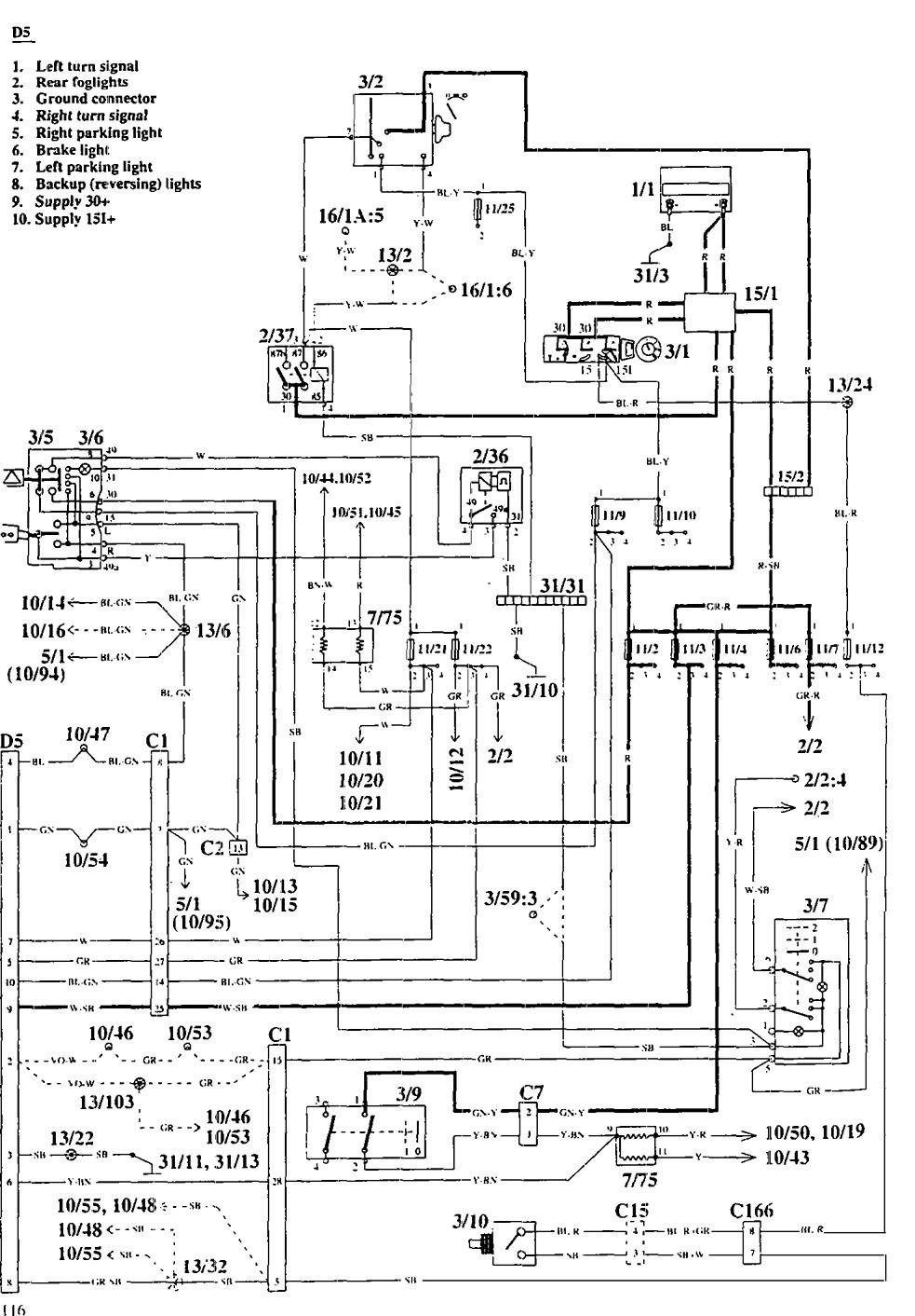 peugeot 103 wiring diagram volvo 940  1995  wiring diagrams trailer camper adapter  volvo 940  1995  wiring diagrams
