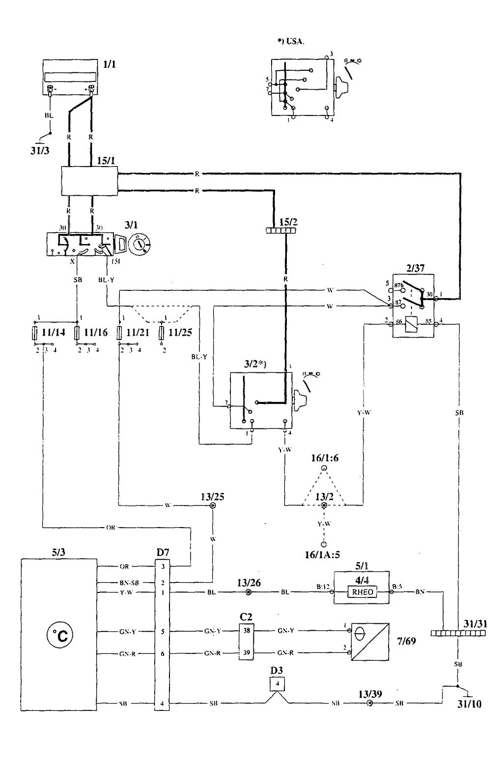 Volvo 940 Wiring Diagram 1995: Volvo 940 (1995) u2013 wiring diagrams u2013 electronic compass/outside rh:carknowledge.info,Design