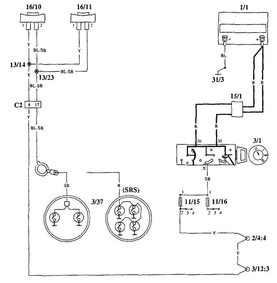 volvo 940 1995 wiring diagrams horn carknowledge rh carknowledge info Volvo 240 Radio Wiring Volvo 240 Radio Wiring