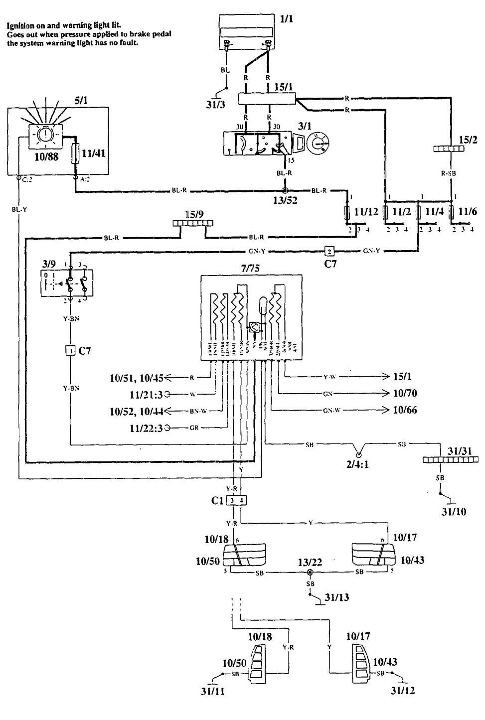 Volvo 940 Wiring Diagram 1995: Volvo 940 (1995) u2013 wiring diagrams u2013 warning indicators u2013 CARKNOWLEDGErh:carknowledge.info,Design