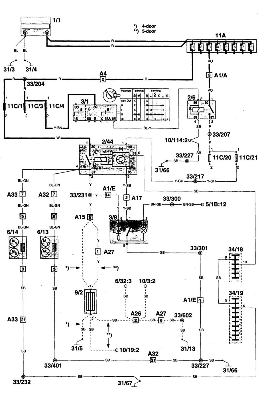 Heated Mirror Wiring Diagram Bots Truck Mirrors Volvo 960 1996 Diagrams Carknowledge Chevy Power