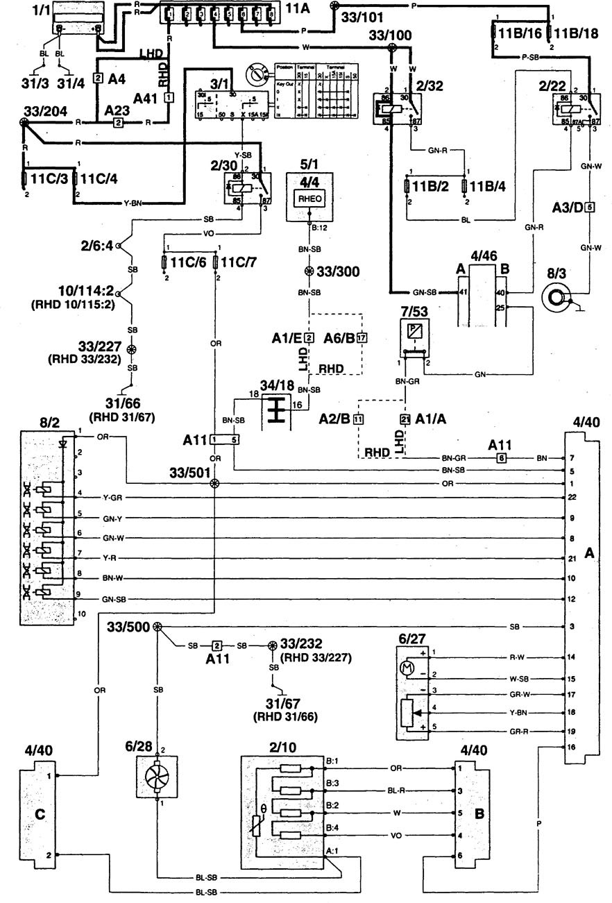 Wiring Diagram Volvo 960 : Volvo wiring diagrams heater