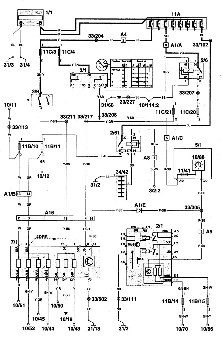 volvo 960 1996 1997 wiring diagrams lamp out warning rh carknowledge info Volvo Engine Diagram 2000 Volvo S80 Engine Diagram