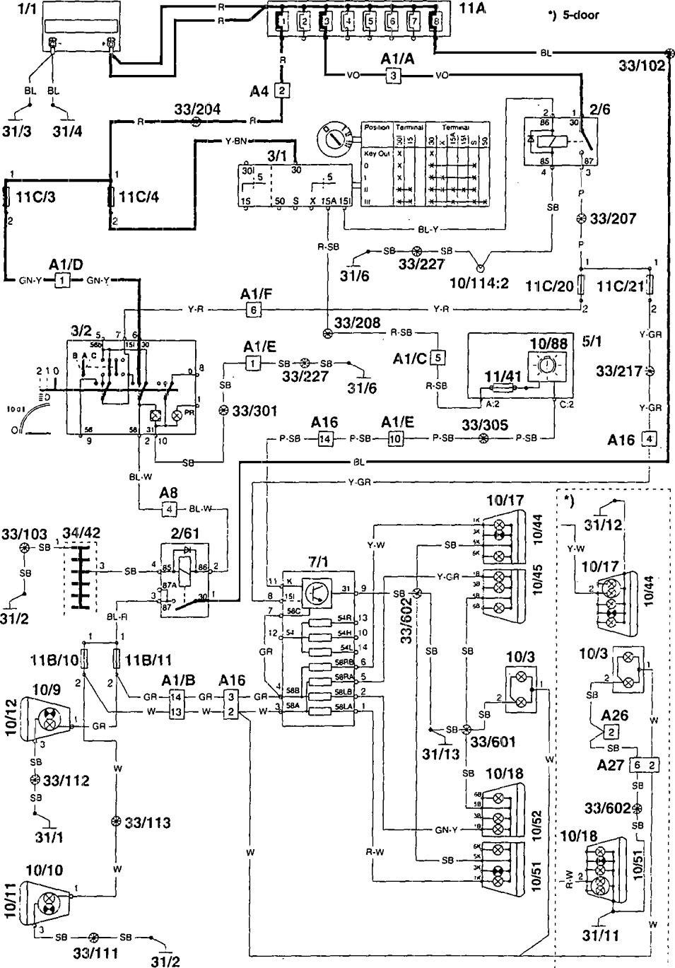 Volvo 960 1995 Wiring Diagrams Tail Lamps Carknowledge Hyundai Starex Diagram