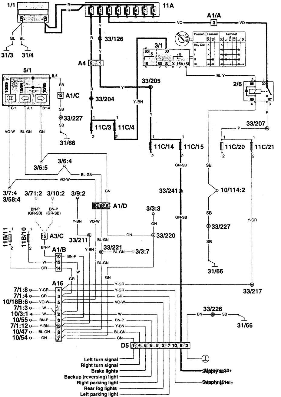 volvo 960  1996  - wiring diagrams  camper