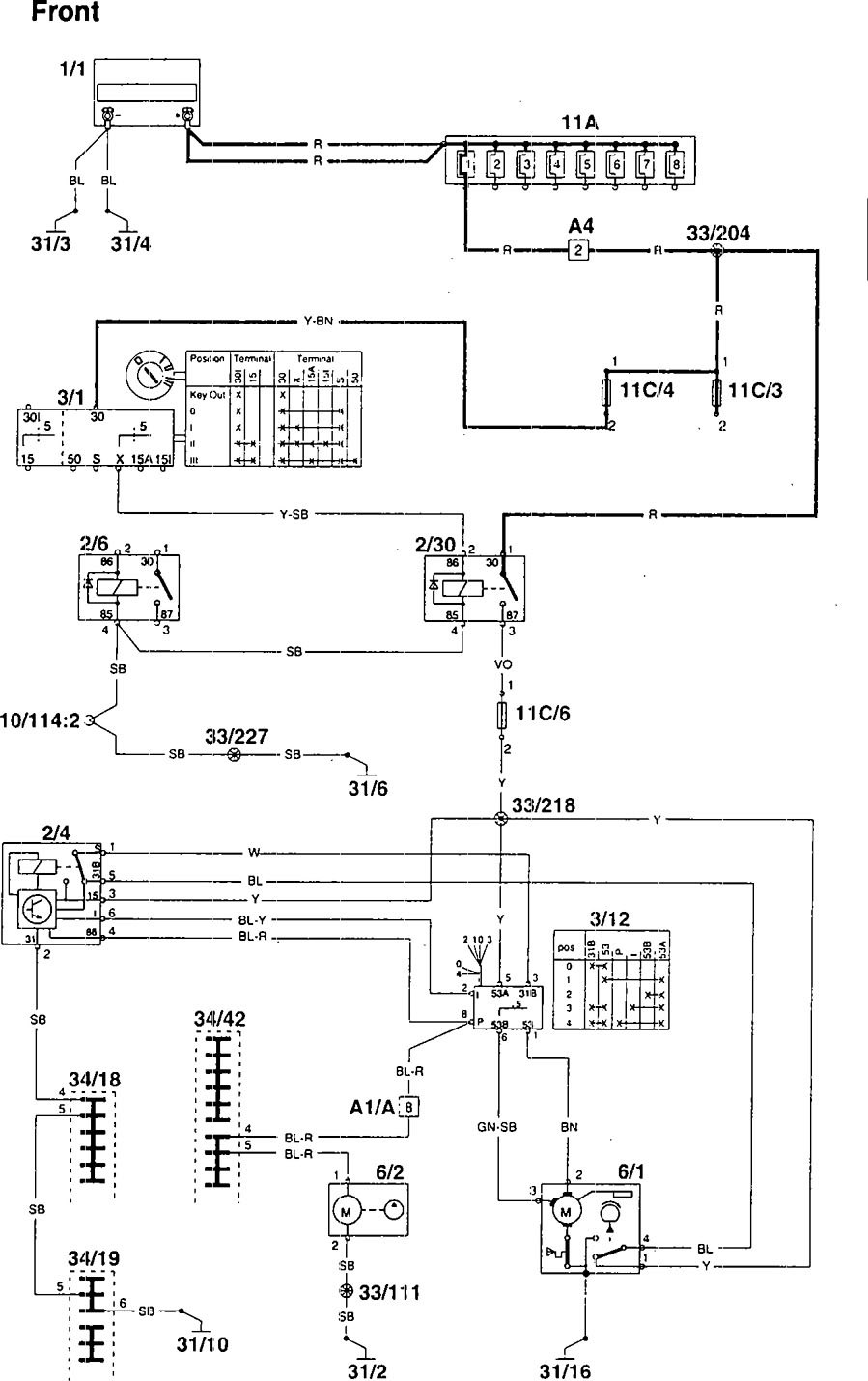 1995 Volvo 960 Wiring Diagram Free For You Diagrams Wiper Washer Radio
