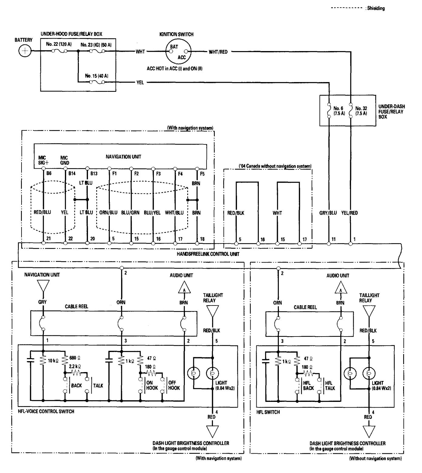 Acura Tl 2006 Wiring Diagrams Hands Free Link System 2007 Ford E 450 Diagram Picture Part 1