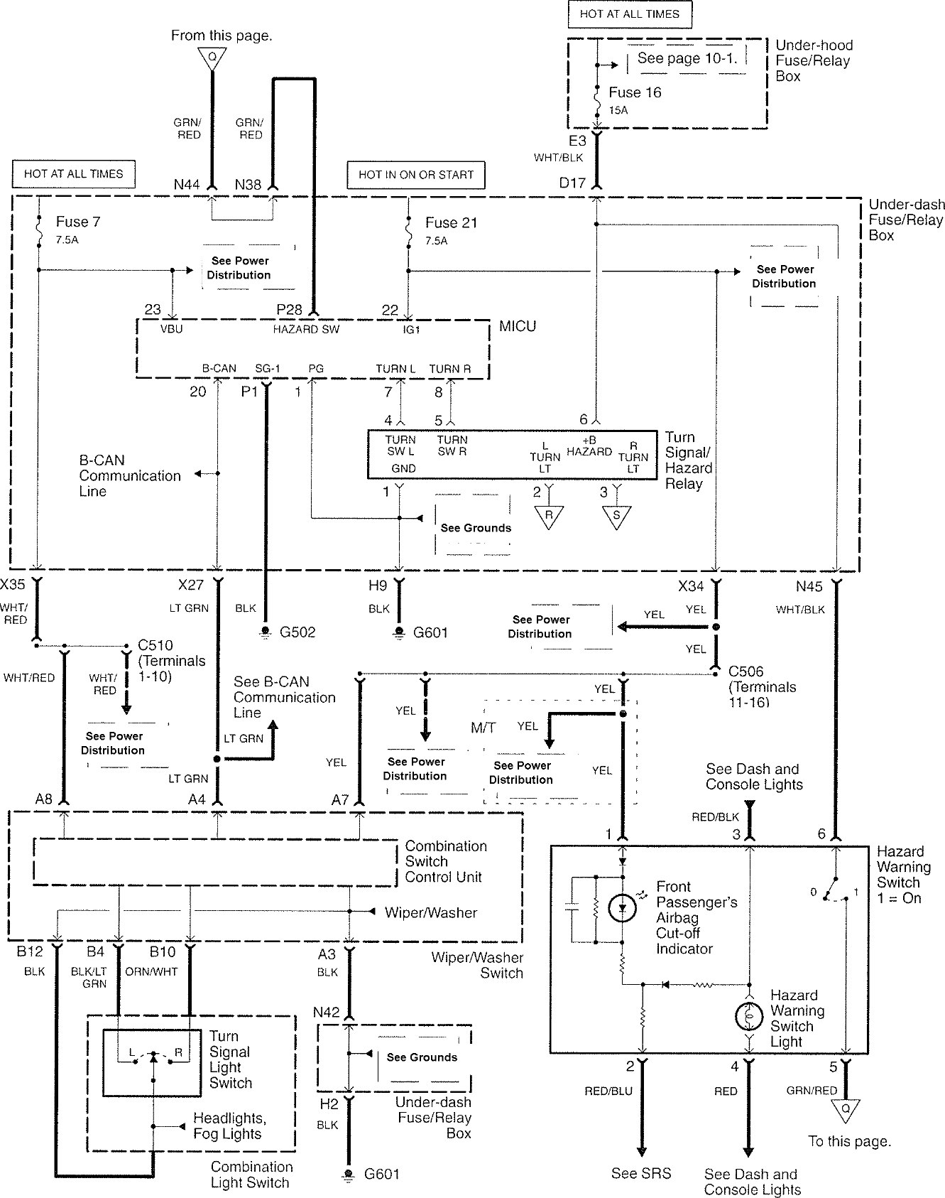 acura tl (2007 2008) wiring diagrams hazard lamp carknowledge 2004 Acura Tl Wiring Diagram acura tl (2007 \u2013 2008) \u2013 wiring diagrams \u2013 hazard lamp