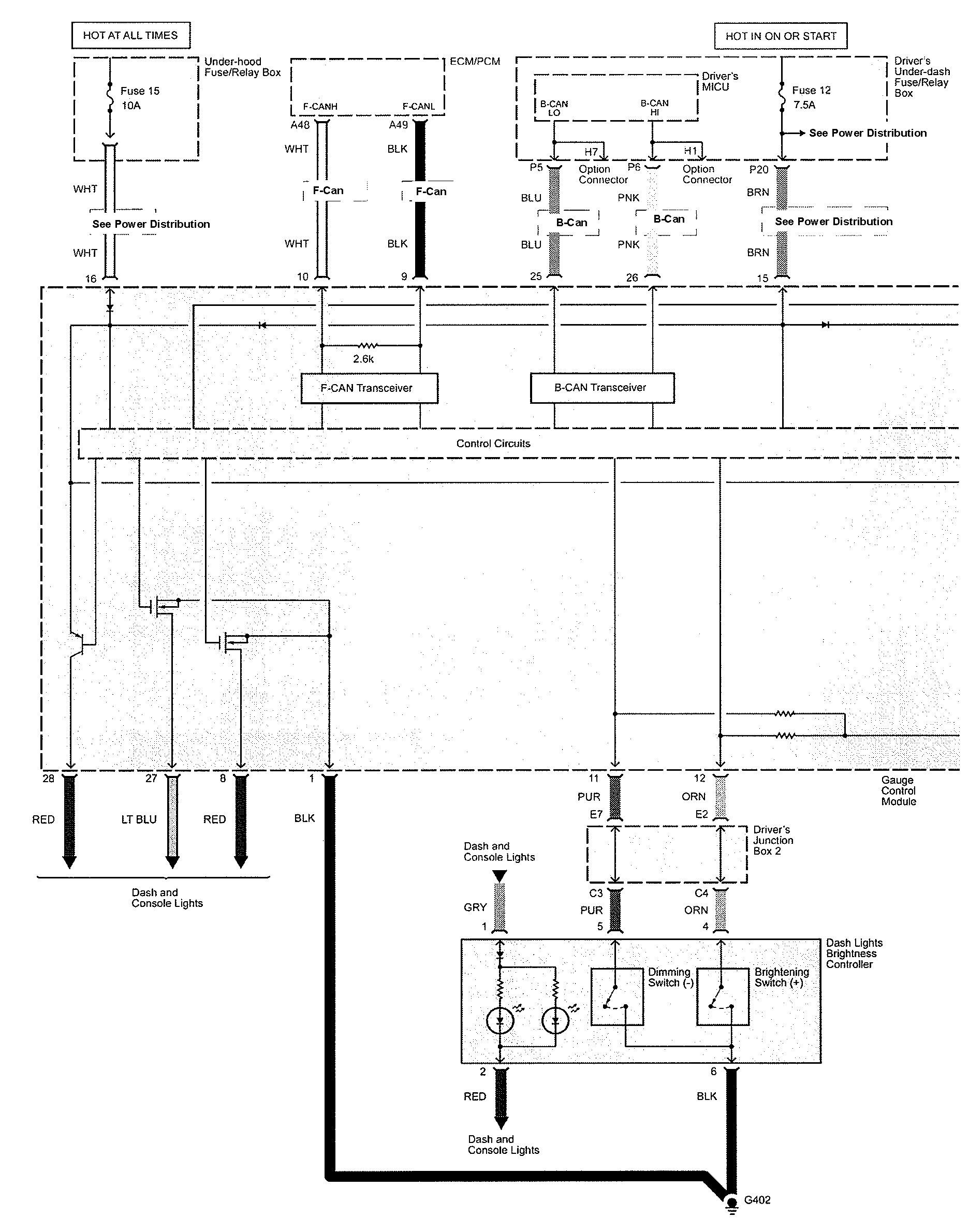 Acura TL (2009 - 2010) - wiring diagrams - instrumentation -  Carknowledge.info   Acura Tl 2010 Wiring Diagram      Carknowledge.info