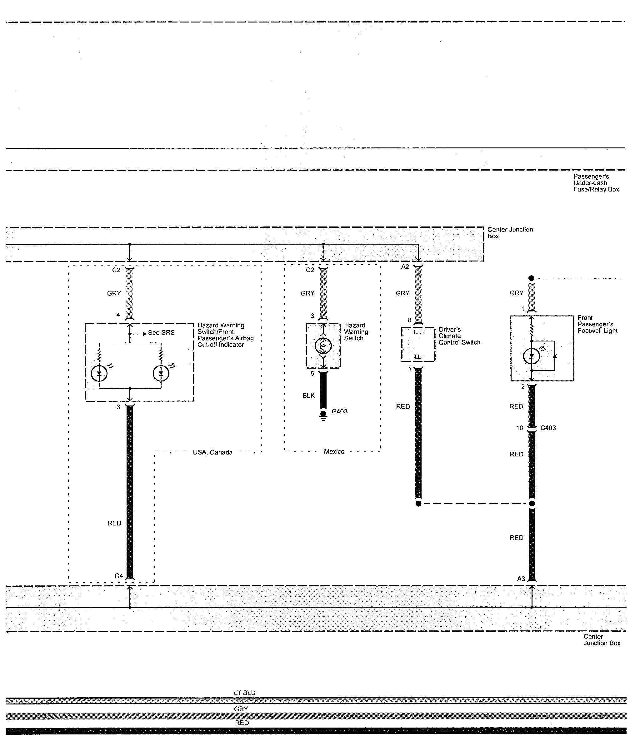 Interior Light Wiring Diagram : Acura tl wiring diagrams interior lighting