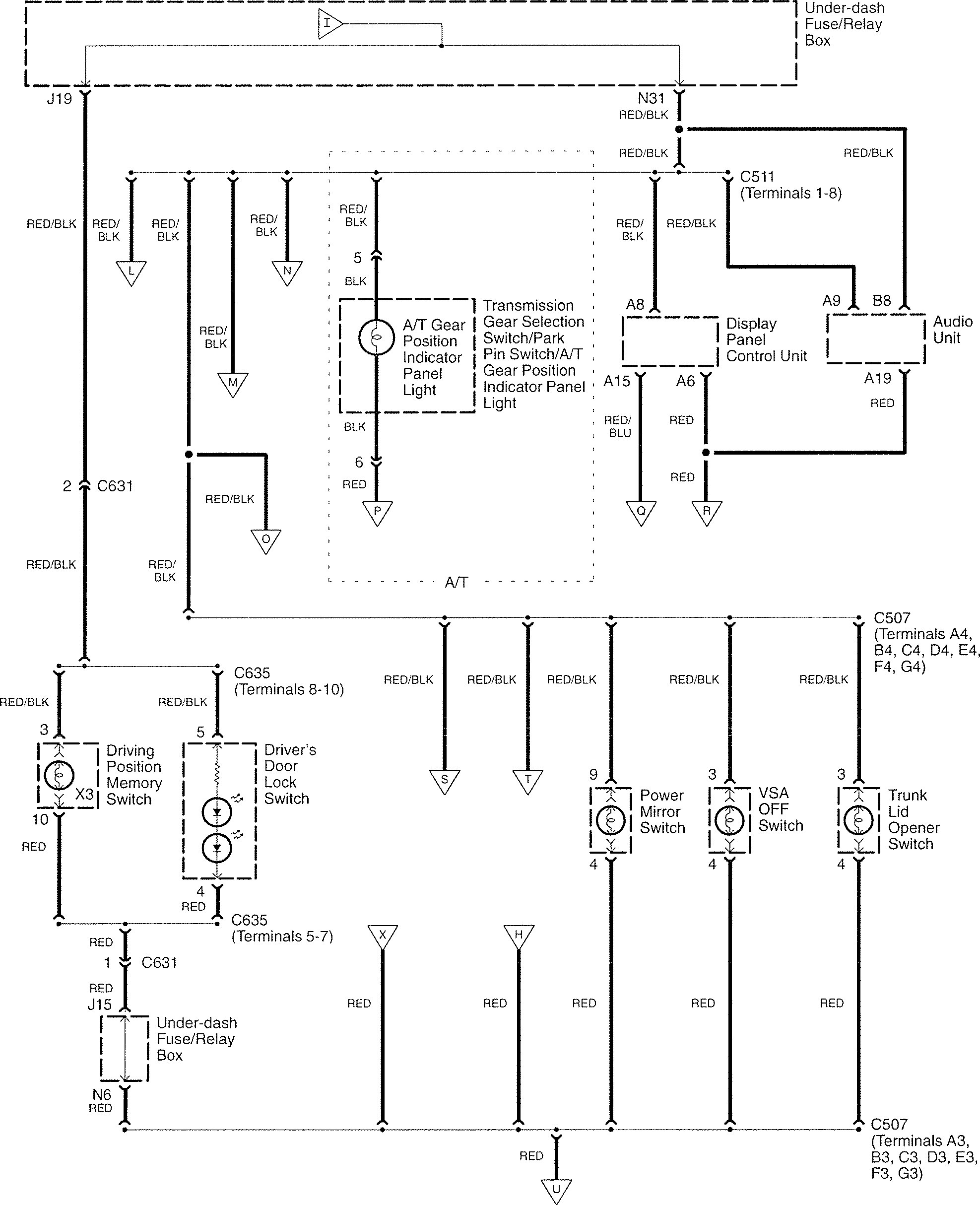 Acura Tl Wiring Diagrams Great Design Of Diagram 2003 Transmission 2007 Interior Lighting Radio 2002