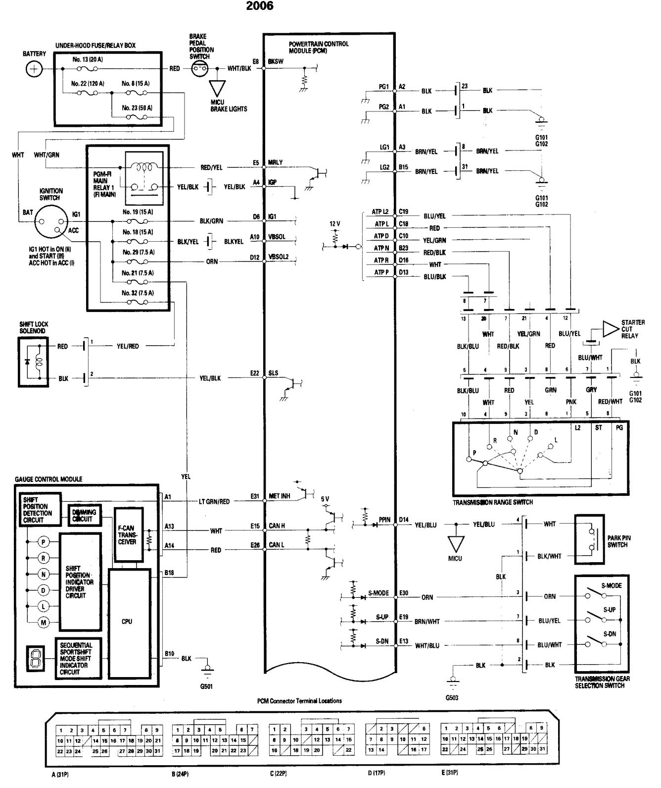 Acura Tl 2006 Wiring Diagrams Transmission Controls Carknowledge Diagram Part 1