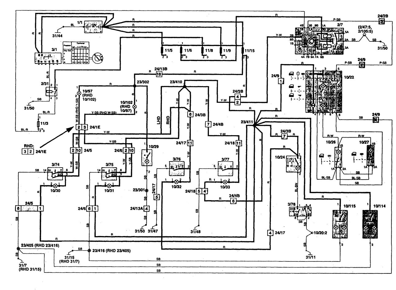 Volvo 850 Pnp Wiring Diagram Library 1994 960 Anti Lock Brake System Electrical 1997 Diagrams Courtesy Lamps