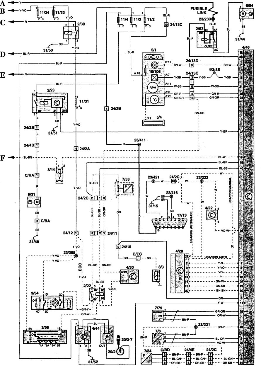 volvo 850 wiring diagram fuel controls 6 1996 volvo 850 (1997) wiring diagrams fuel controls carknowledge