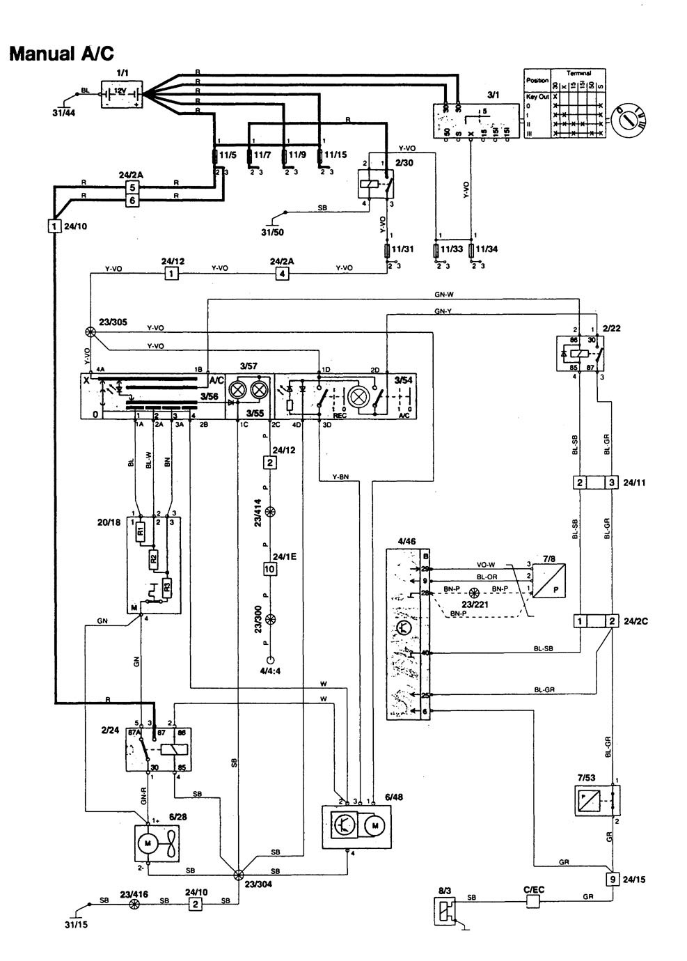Volvo 850 1997 Wiring Diagrams Heater Carknowledge Diagram