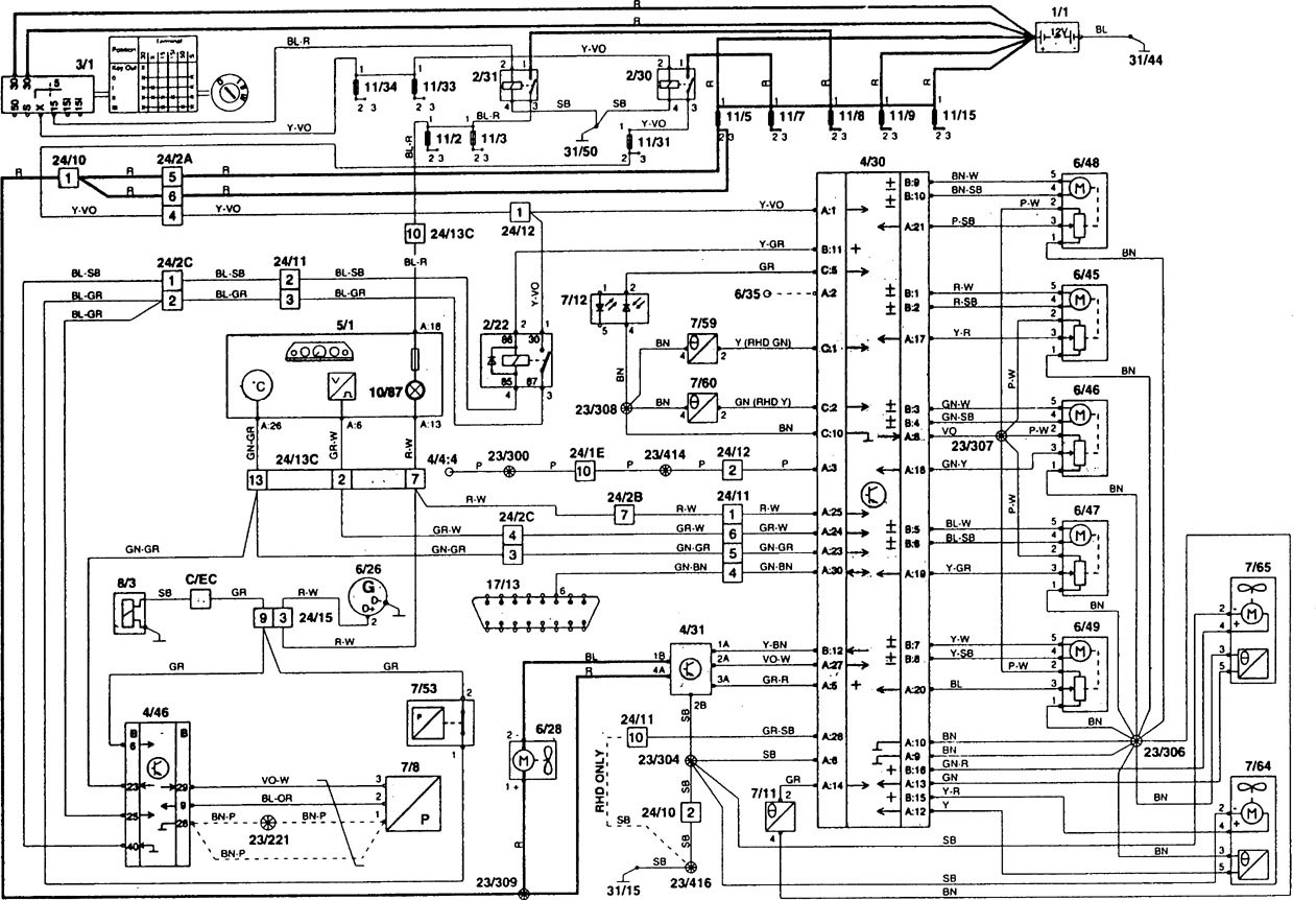 Volvo 850 Radio Wiring Harness Diagram