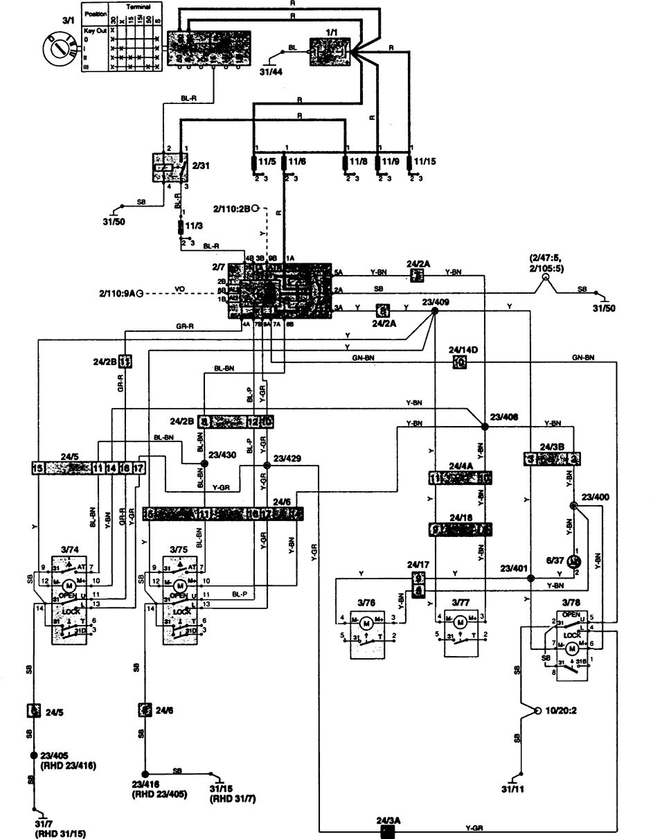 1997 Volvo Wiring Diagrams Library 1996 850 Electric Cooling Fan System Schematic And Diagram Power Locks Carknowledge Nissan Pathfinder