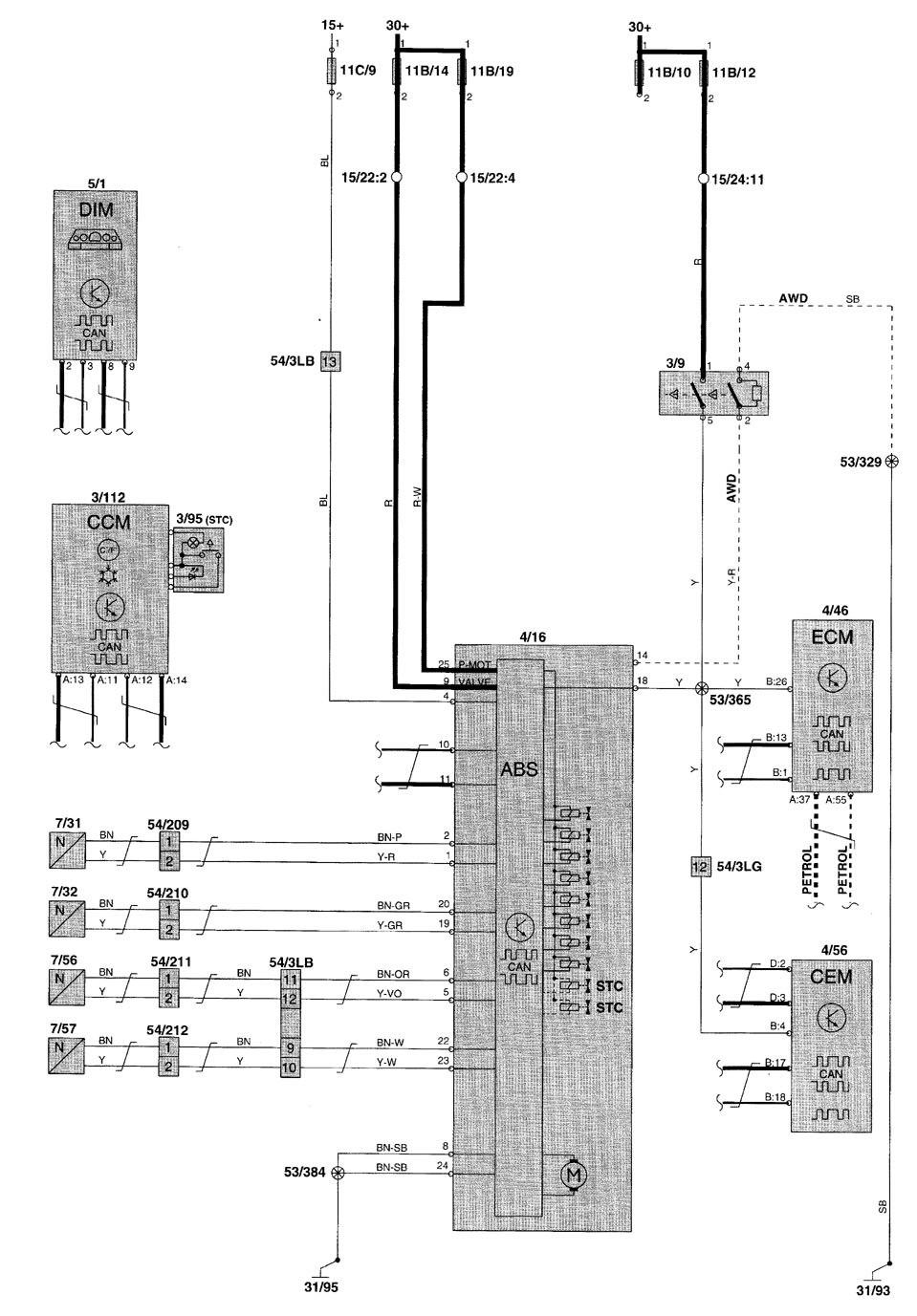 Volvo V70 2001 Wiring Diagrams Brake Controls: 2001 Volvo V70 Wiring Diagram At Ariaseda.org