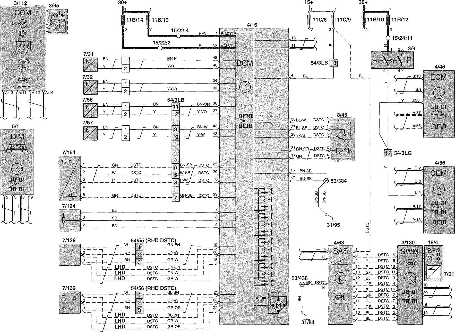 Volvo V70 Trailer Wiring Diagram : Volvo v wiring diagrams brake controls