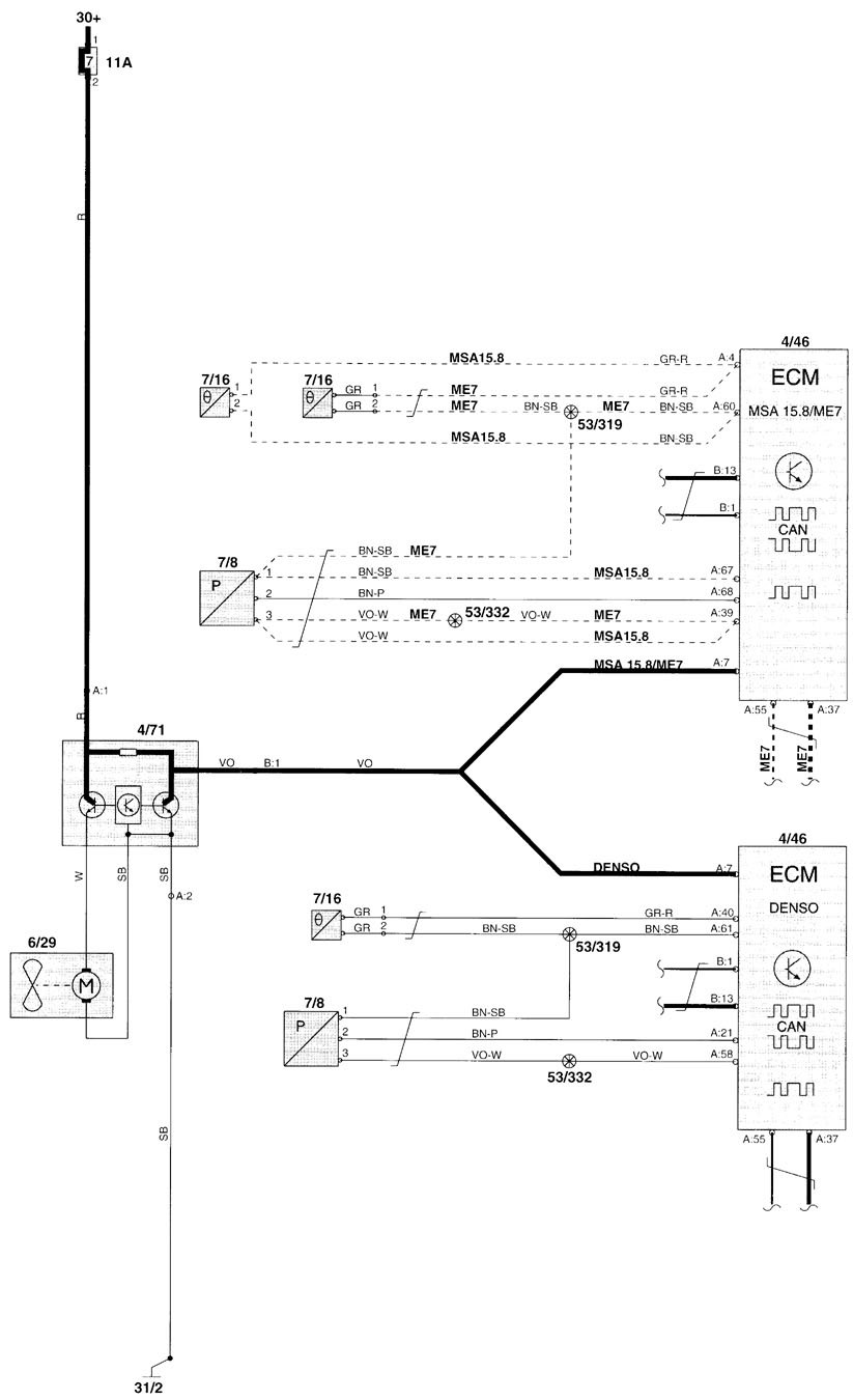 Volvo V70  2000  - Wiring Diagrams