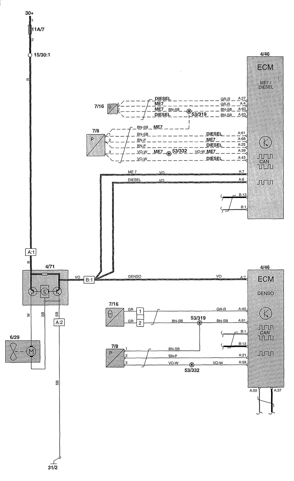 2004 volvo xc90 wiring fan 1 wiring diagram source. Black Bedroom Furniture Sets. Home Design Ideas