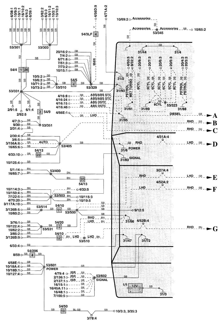 volvo v70 2000 wiring diagrams ground distribution