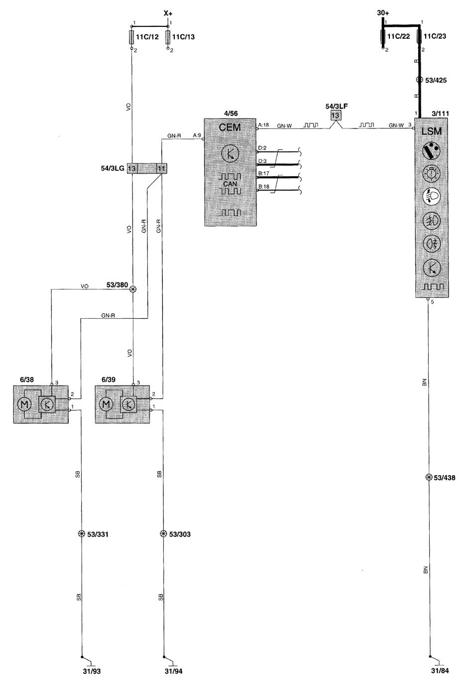 Volvo V70  2001  - Wiring Diagrams