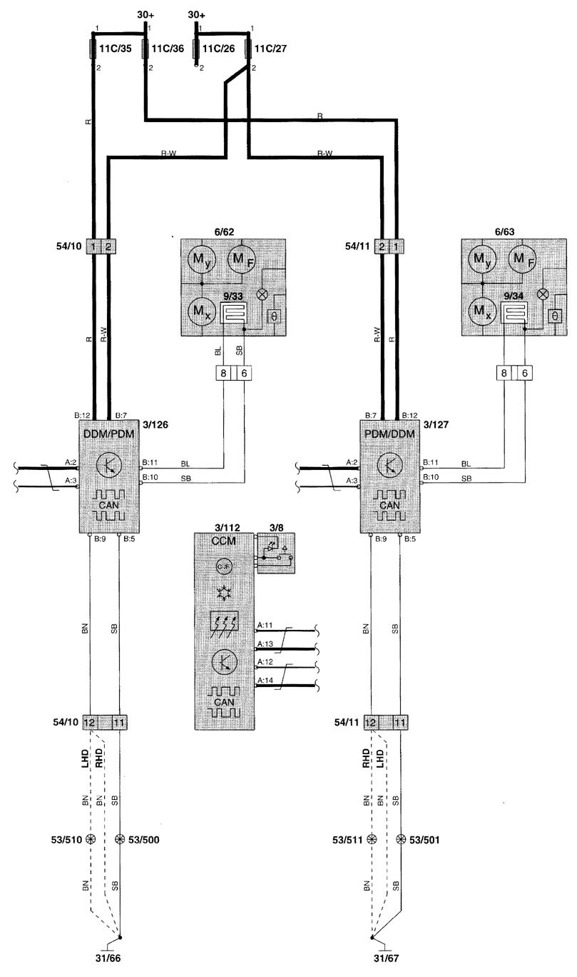 volvo v70  2001 - 2002  - wiring diagrams