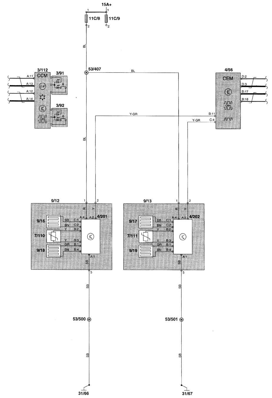 Volvo V70  2000 - 2002  - Wiring Diagrams