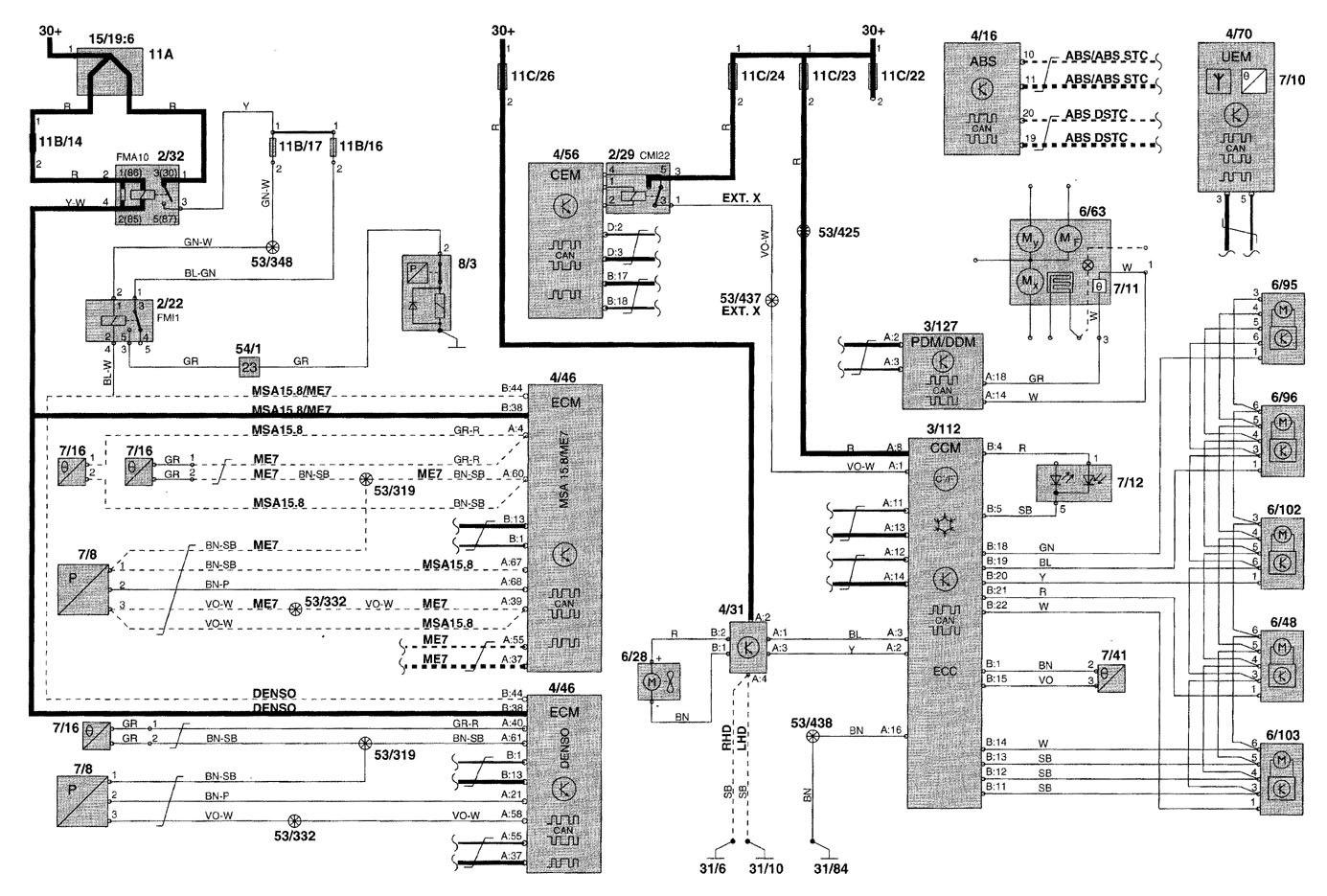 [DIAGRAM_38ZD]  Volvo V70 (2000) - wiring diagrams - heater - Carknowledge.info | Denso Heater Wiring Diagram |  | Carknowledge.info