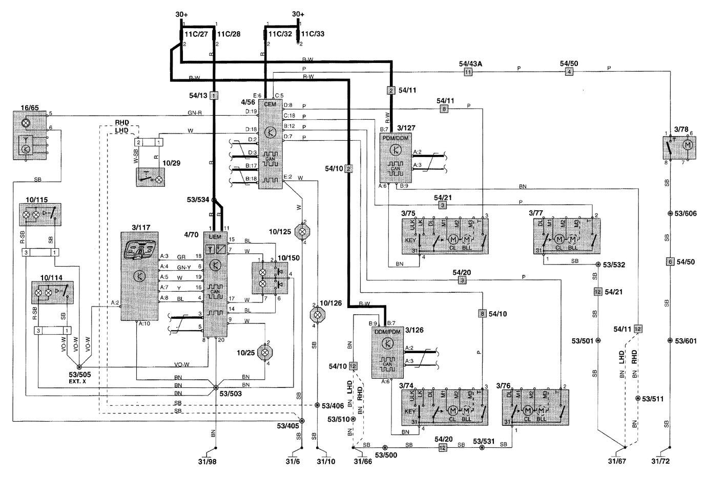 2002 gmc sonoma wiring diagram lights volvo v70  2001 2002  wiring diagrams interior lighting  volvo v70  2001 2002  wiring