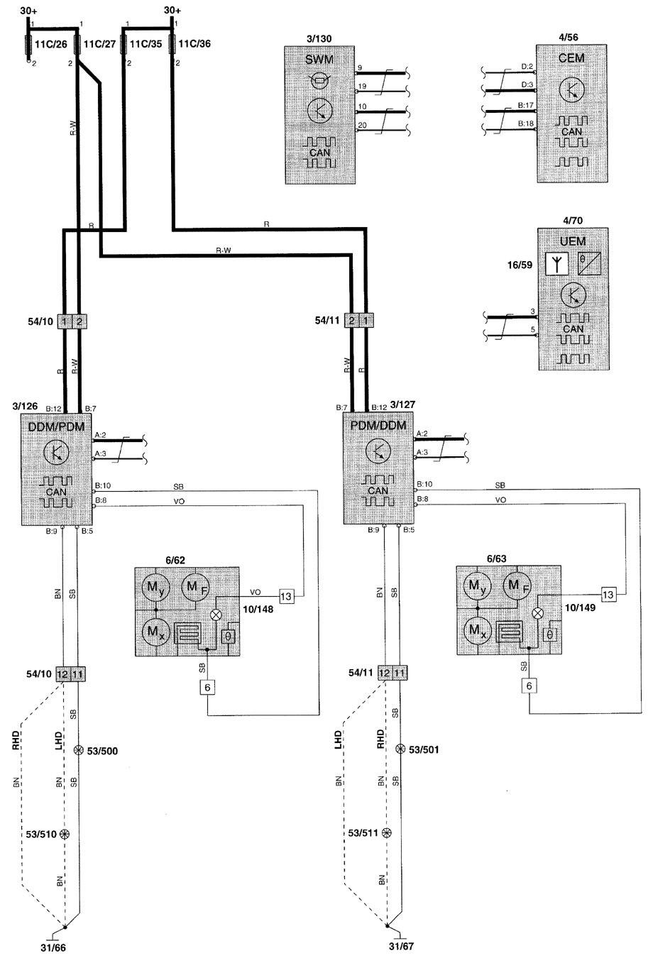 Volvo V70 (2001) - wiring diagrams - keyless entry - Carknowledge.info | Volvo V70 Wiring Diagram 2001 |  | Carknowledge.info