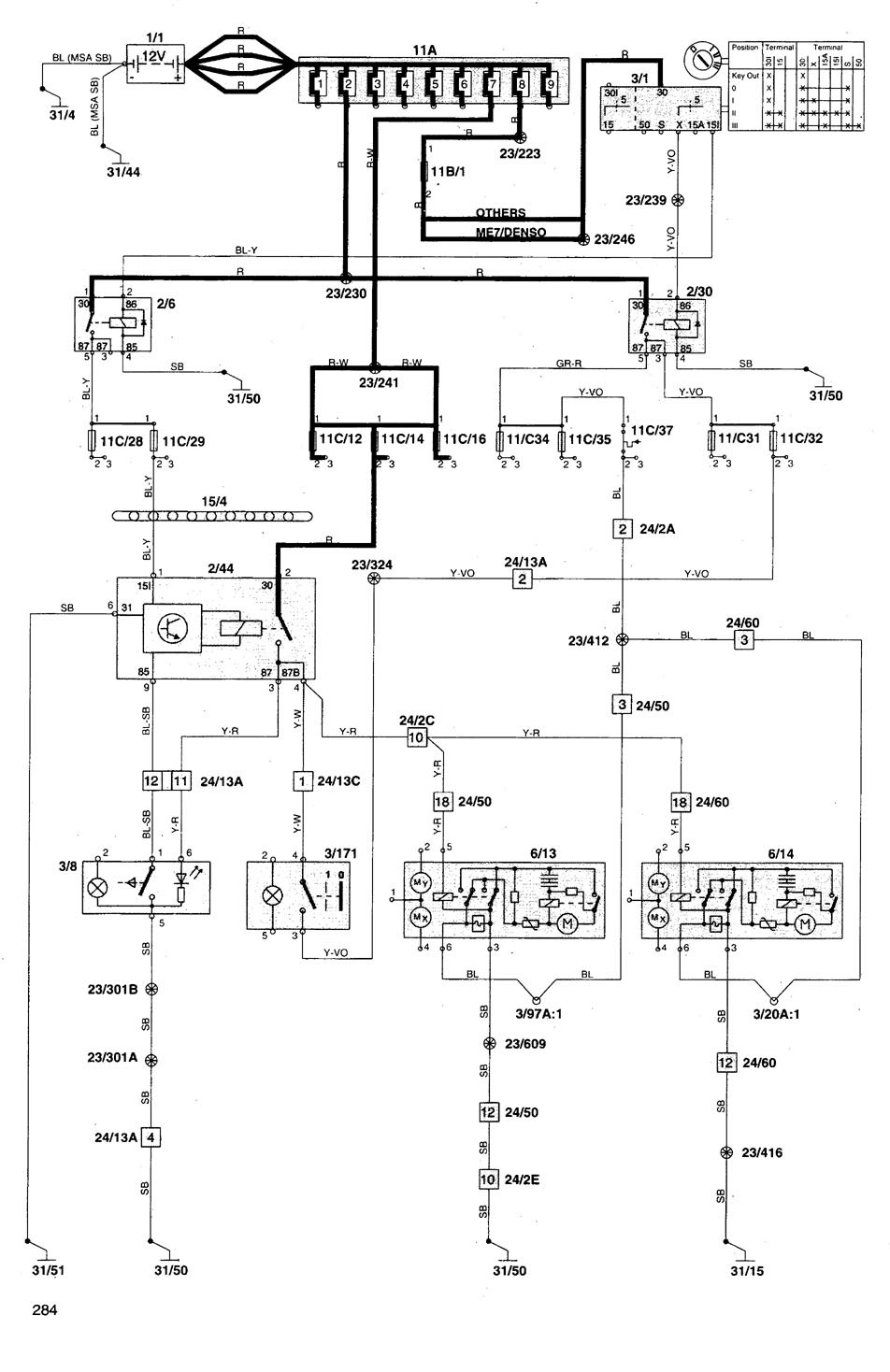 Volvo V70 1998 1999 Wiring Diagrams Power Mirrors Carknowledge Mirror Diagram Part 1