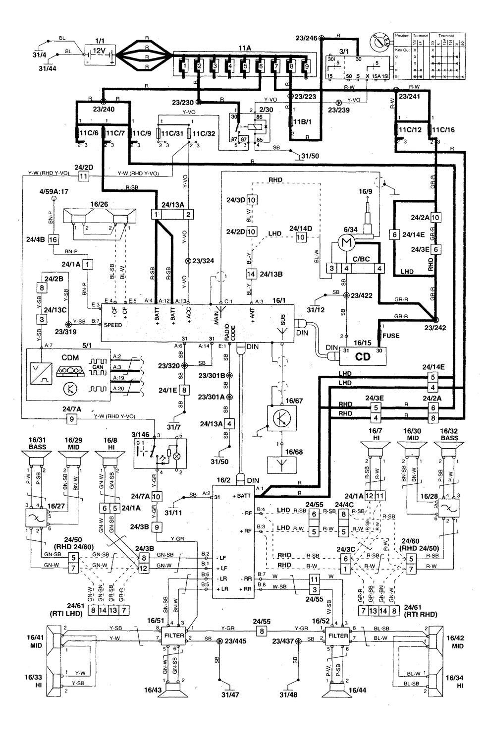 Volvo C70 (1998 - 2004) - wiring diagrams - audio - Carknowledge.info | Volvo Wiring Diagrams C70 |  | Carknowledge.info