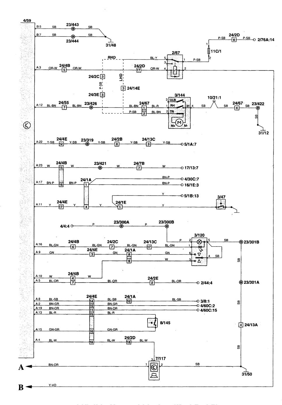 Volvo C70 1998 2004 Wiring Diagrams Convertible Top Diagram
