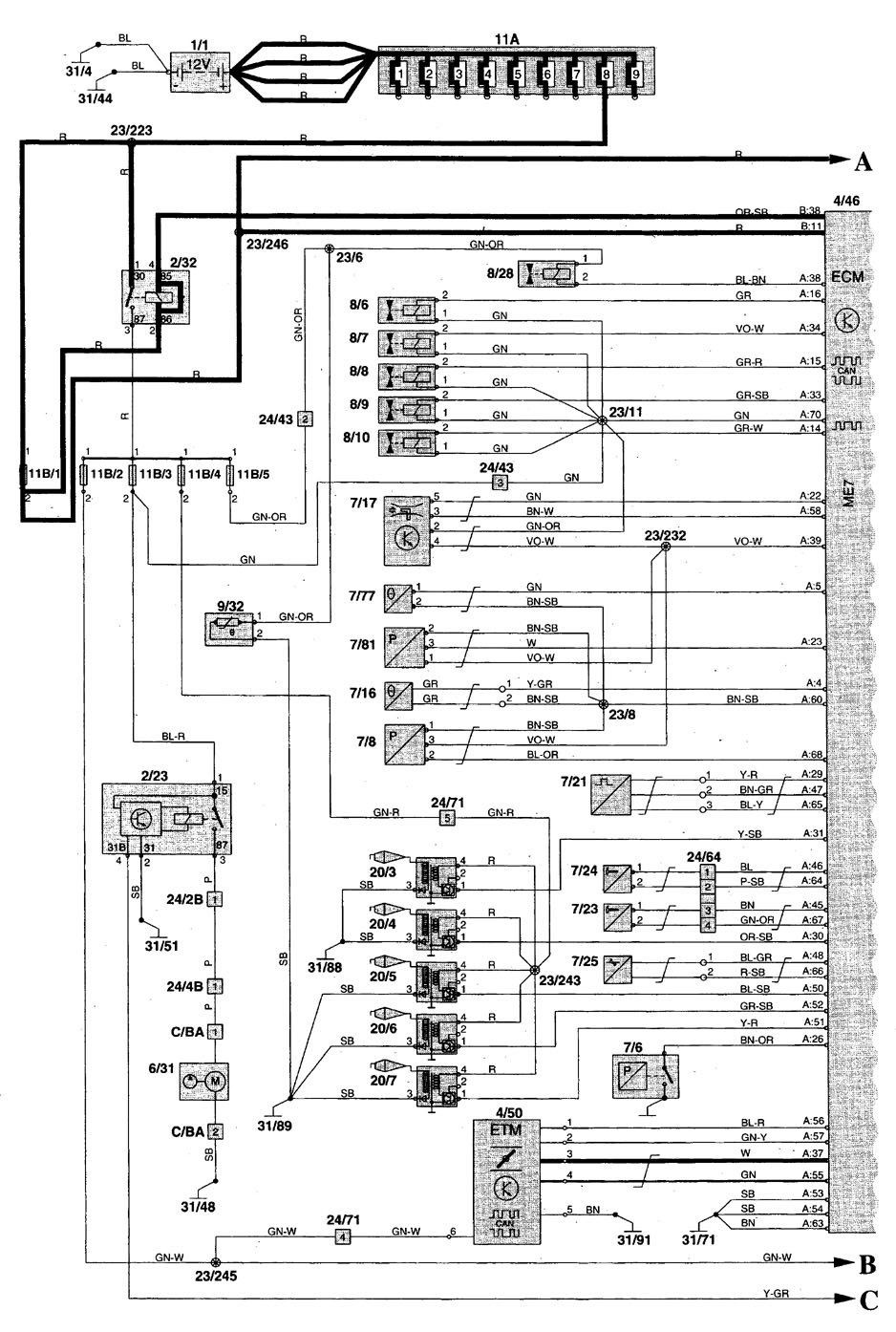Wiring Diagram For Extra Fuel Pump Great Design Of Gm Relay Volvo C70 1999 2004 Diagrams Electric Flow Chevy