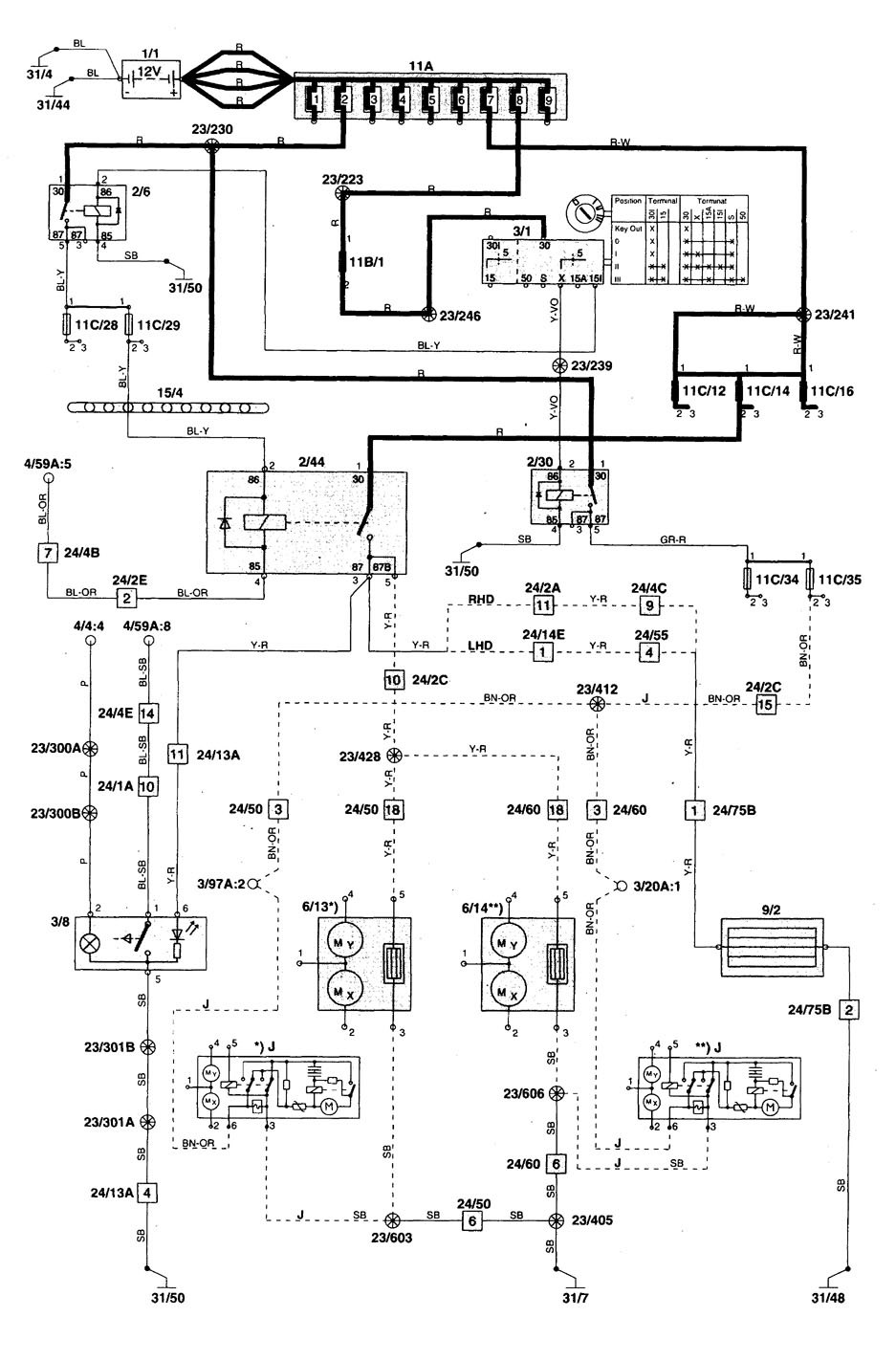 Volvo C70 1998 2004 Wiring Diagrams Heated Mirror Carknowledge Diagram