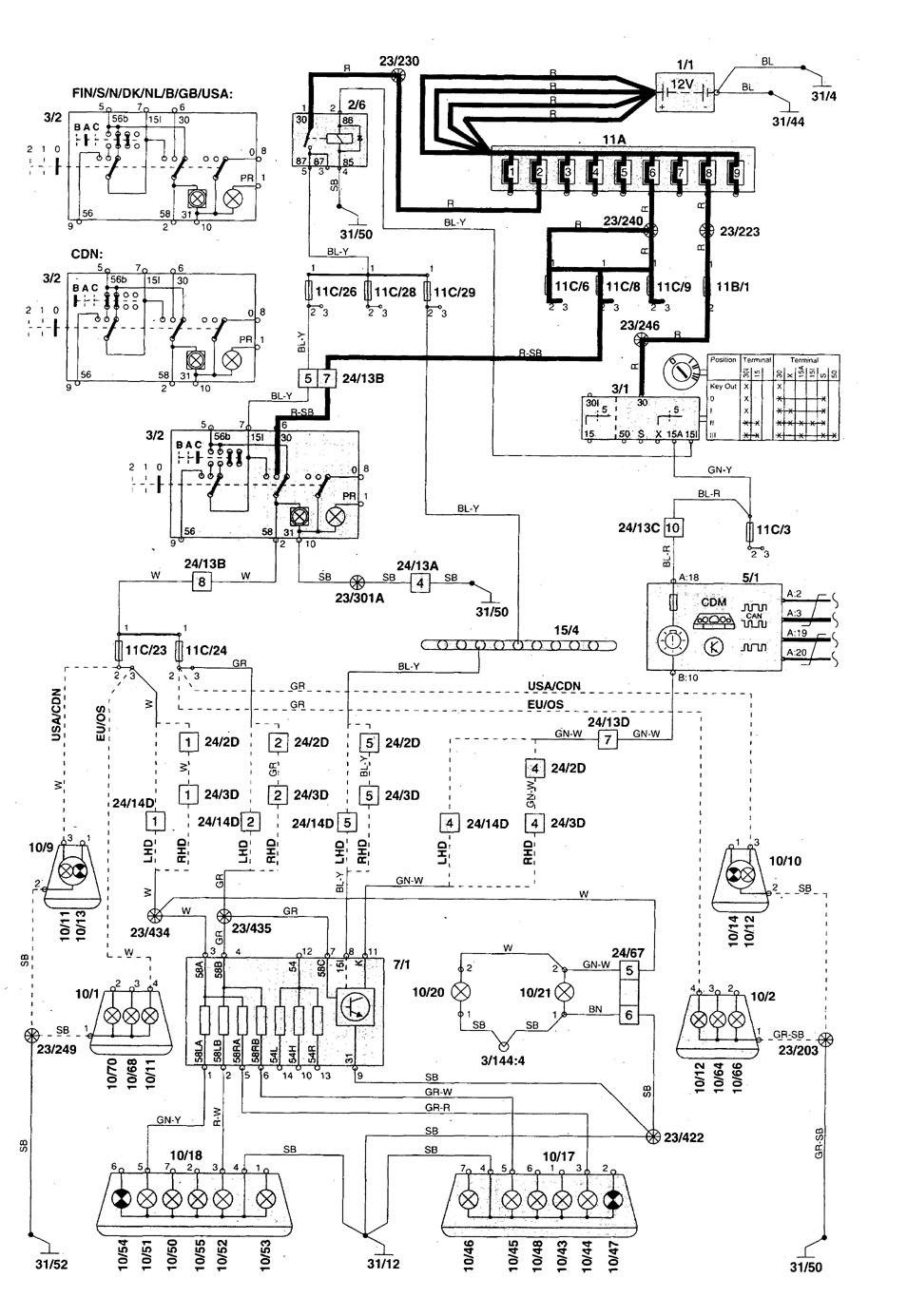 parking circuit wiring diagram volvo c70  1998 2004  wiring diagrams parking lamp  volvo c70  1998 2004  wiring