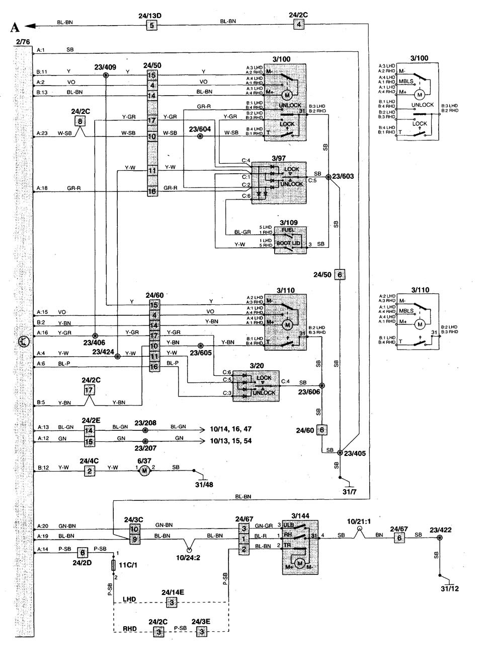 C70 Wiring Diagram Will Be A Thing 2004 Volvo 1998 Diagrams Power Locks Fa