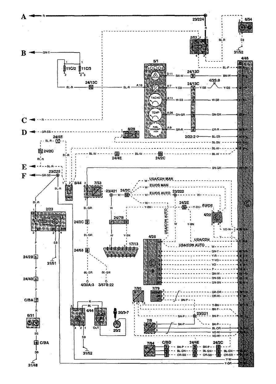 volvo s70 1998 2000 wiring diagrams fuel control. Black Bedroom Furniture Sets. Home Design Ideas