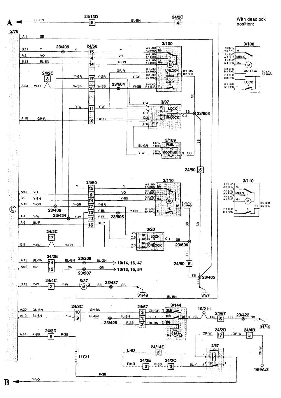 volvo c70  1998 - 2000  - wiring diagrams