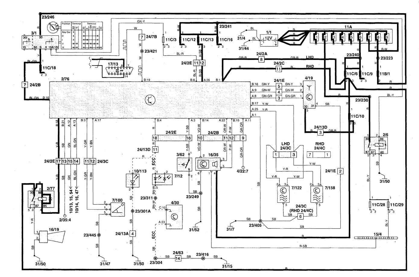 volvo s70 1998 2000 wiring diagrams security anti. Black Bedroom Furniture Sets. Home Design Ideas