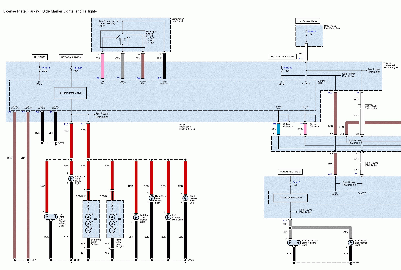 marker light wiring diagram acura tl  2011  wiring diagrams exterior lighting  acura tl  2011  wiring diagrams