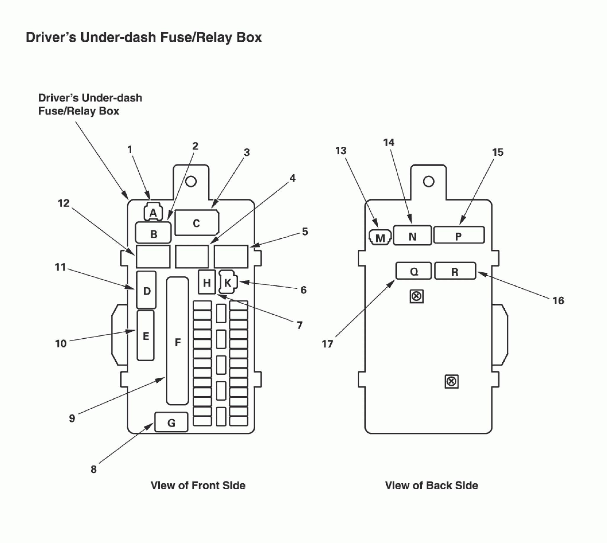 acura tl  2011  - wiring diagrams - fuse panel