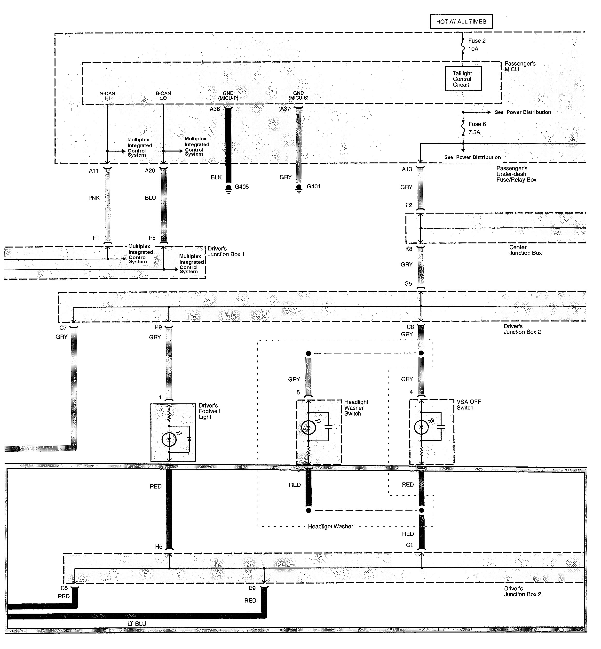 Acura TL (2010) - wiring diagrams - instrument panel lamp -  Carknowledge.info   Acura Tl 2010 Wiring Diagram      Carknowledge.info