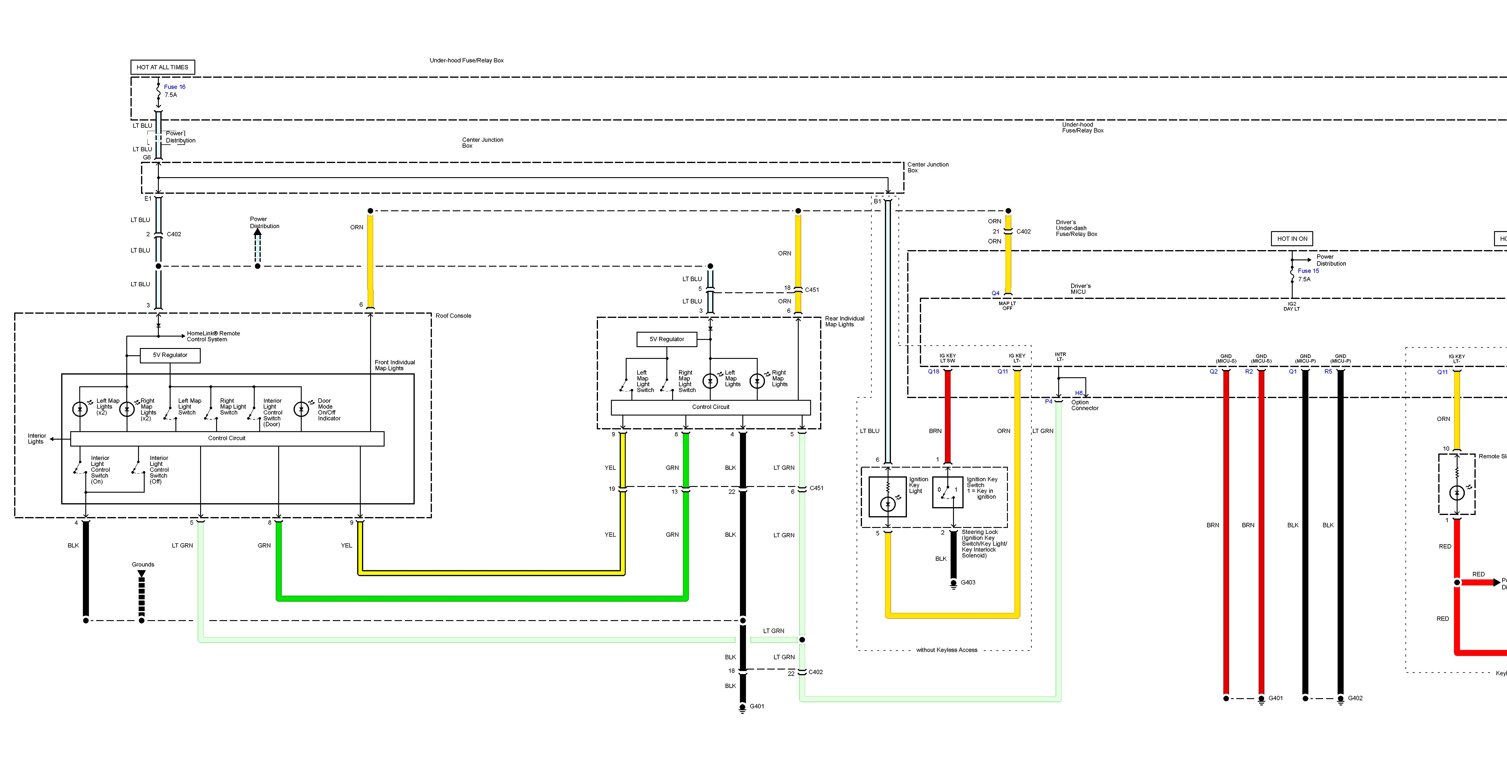 Acura Tl 2013 2014 Wiring Diagrams Lighting Control Module Diagram Part 1