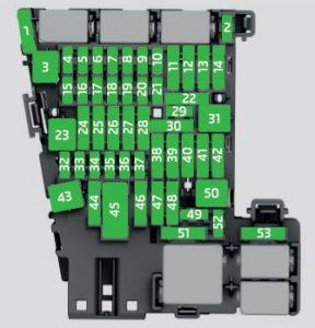 Skoda Superb - fuse box diagram - dashboard