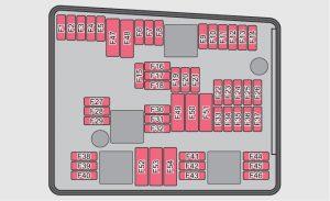 Skoda Yeti - fuse box diagram - engine compartment (version 1)
